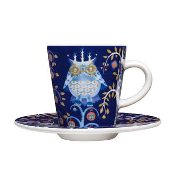 Iittala - Taika - blau - tasse à espresso avec soucoupe