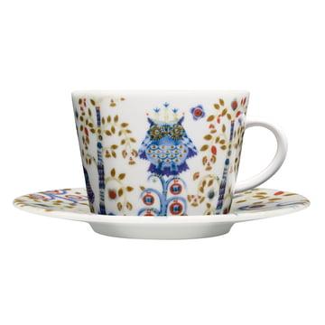 Iittala - Taika - blanche - tasse à café avec soucoupe