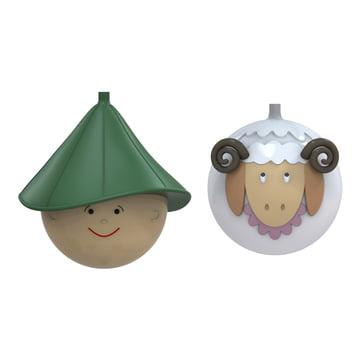 A di Alessi - Boules de Noël Pastorello et Pecorello