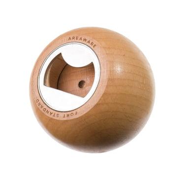 Areaware - Sphere décapsuleur, bois naturel - ouverture