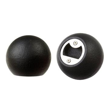 Areaware - Sphère décapsuleur, fer noir - vue latérale