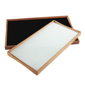 Plateau Turning Tray, 30 x 48 cm, noir / blanc