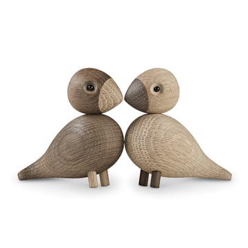 Kay Bojesen - Les inséparables, lot de 2oiseaux en bois