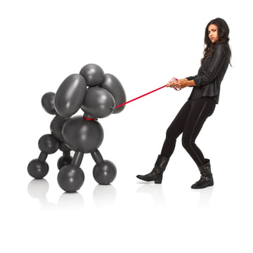 Fatboy - Inflatable Dolly, anthracite - avec une personne