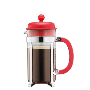 Bodum - Cafetière à piston Caffettiera, 0,35 l, rouge