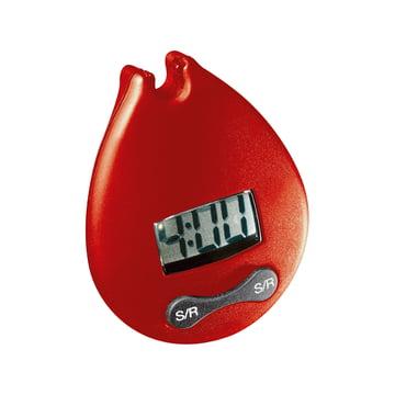 Bodum - Minuteur à clip 4 minutes minuteur numérique, rouge