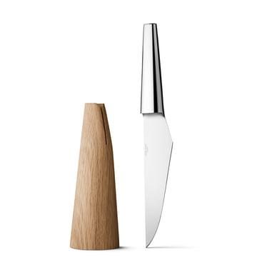 Georg Jensen - Couteau Chef Barbry - à côté du bloc à couteaux