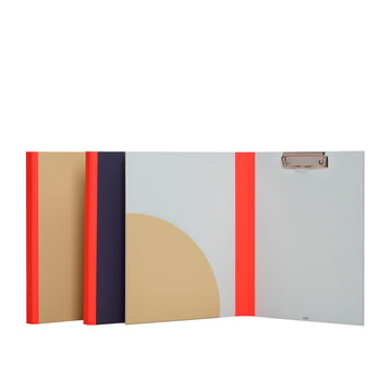Hay - Spine Clip Board, rouge