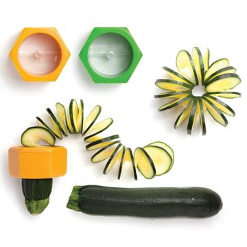 Monkey Business - Coupe-légumes Cucumbo - avec légumes