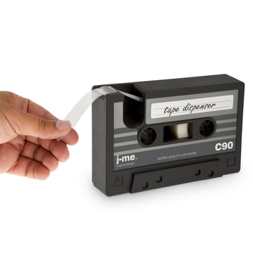 j-me - Dévidoir de ruban adhésif cassette tape, noir - Sectionnement