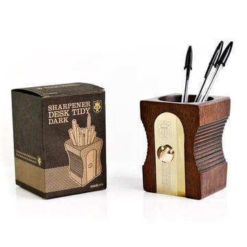 Suck UK - Pot à crayons Sharpener Desk Tidy, simple, foncé - avec emballage
