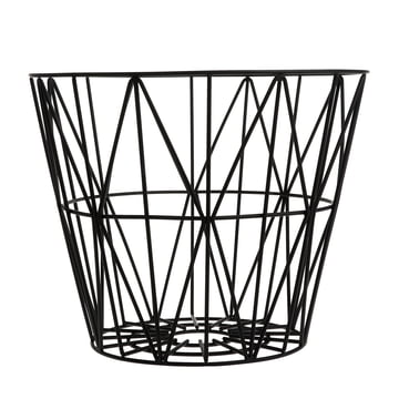 Wire Basket Medium de ferm Living en noir