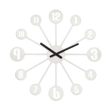 Koziol - Horloge murale Pinball, blanche