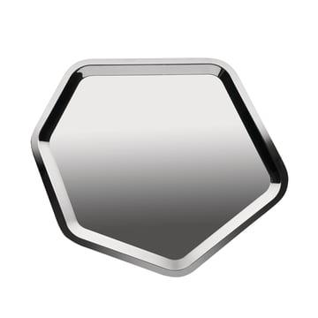 Alessi - Territoire, plateau hexagonal en acier inoxydable, brillant