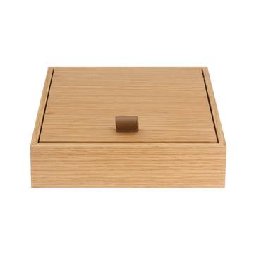 Boîte beauté Hesperide de Schönbuch en chêne/sangle en cuir marron
