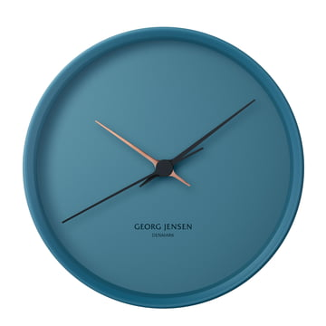 Georg Jensen - Henning Koppel Horloge murale Graphic Ø 22 cm, bleu