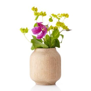 applicata - Vase Poppy petit, chêne, fleurs