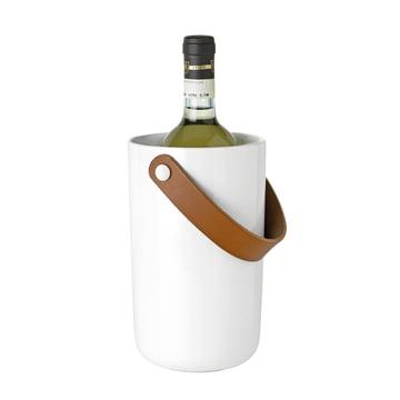 Stelton - seau à vin Glacier, blanc avec bouteille