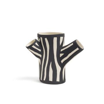 Hay - Tree Trunk Vase petit en blanc