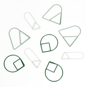 Areaware - Trombones, verts (série de 9)