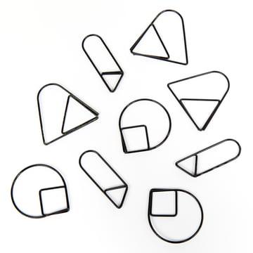 Areaware - Trombones, noirs (série de 9)