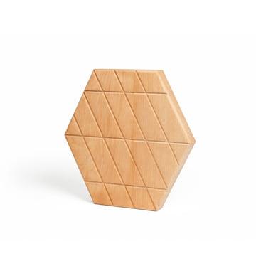 Areaware -Plateau Grid petit, en bois de hêtre huilé
