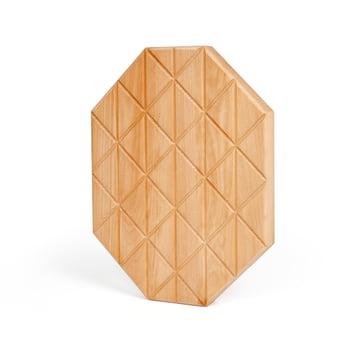 Areaware - Plateau Grid medium, en bois de hêtre huilé