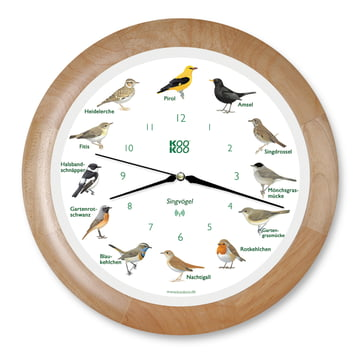 KooKoo - Horloge murale Singvogel RC, bois