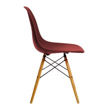 Vitra - Eames Plastic Side Chair DSW, érable jauni / rouge oxyde