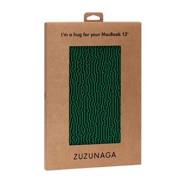 Zuzunaga - MacBook Case 13'', vert, emballage