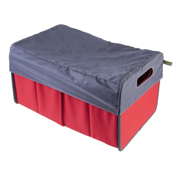 meori - Capote 30litres, gris / Boîte pliante classique 30litres, rouge hibiscus uni