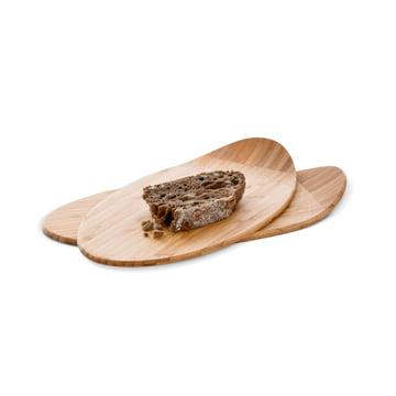 Planchette de petit-déjeuner minimaliste et élégante en bambou