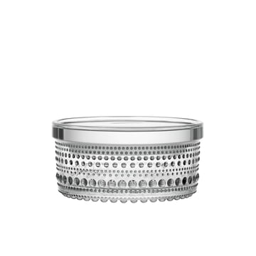 Kastehelmi boîte de rangement 116 x 57 mm d'Iittala en verre clair