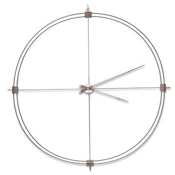 Horloge Delmori de nomon en noir en bois de noyer