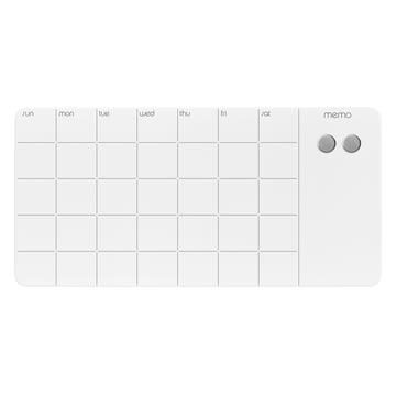 Tableau magnétique en verre avec agenda mensuel de ThreeByThree