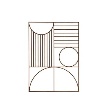 Décoration murale rectangulaire Outline de ferm Living en placage chêne fumé