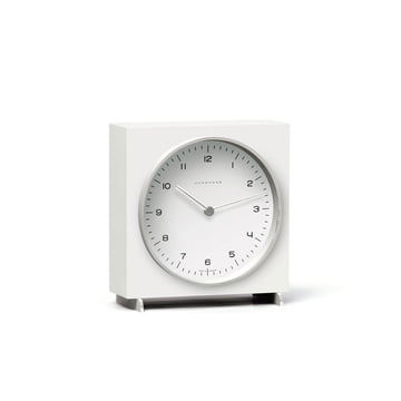 Horloge de table quartz Max Bill par Junghans en blanc