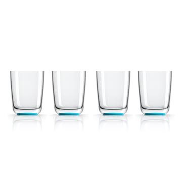 Verre Longdrink de 425ml (lot de 4) de Palm Products en bleu