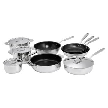Fiskars - Famille de produits All Steel avec faitouts, poêles à frire et wok