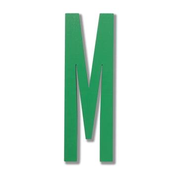 Design Letters - Wooden Letters Indoor M en vert