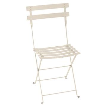 Chaise pliante en métal Bistro de Fermob en couleur lin