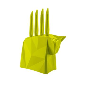 Bloc à couteaux à steak Pablo de Koziol en vert