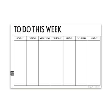 weekly-planner de design letters