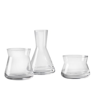 Trio de vases de Design House Stockholm en transparent