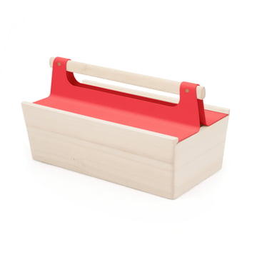 Boîte à outils Louisette de Hartô en rouge fraise (RAL 3018)