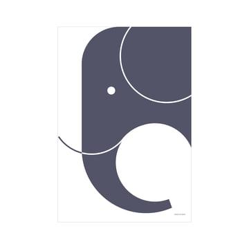 snug.elephant Art Print par Snug.Studio en bleu foncé