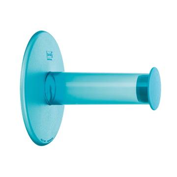 Dérouleur de papier toilette Plug'n Roll de Koziol en turquoise