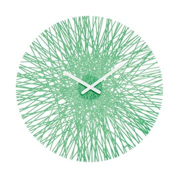 Horloge murale Silk de Koziol en vert menthe