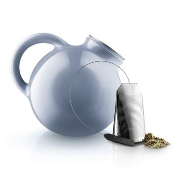 La théière Globe et le sachet/filtre à thé d'Eva Solo