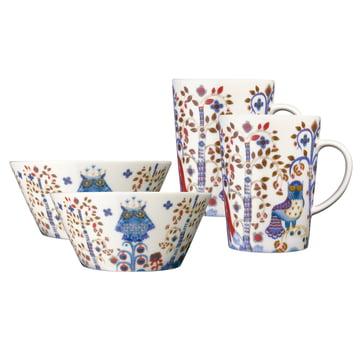 Iittala - Service Mug & Bowl Taika blanc (4 pièces)